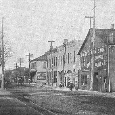 New Miami Avenue in Bradford, Ohio in 1907.
