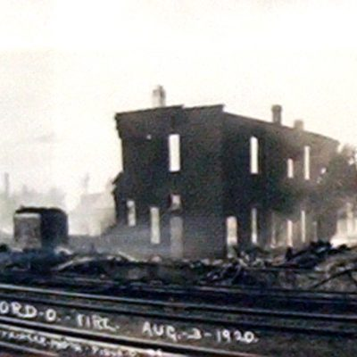 The Great Fire, as local residents call it today, swept through the business district destroying 34 businesses and 12 homes on August 3, 1920.